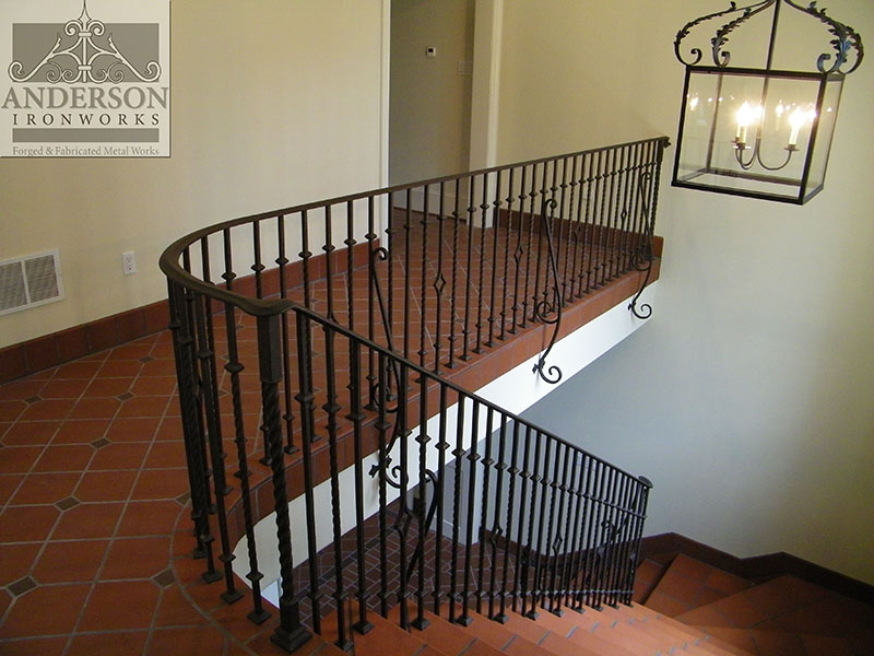 Wrought Iron Railing Custom And Pre Designed Anderson Ironworks