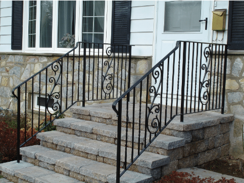 custom wrought iron rails