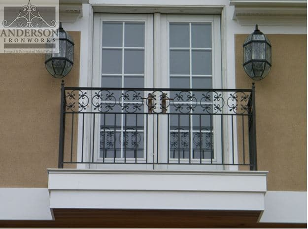 Wrought Iron Balcony Railing Anderson Ironworks