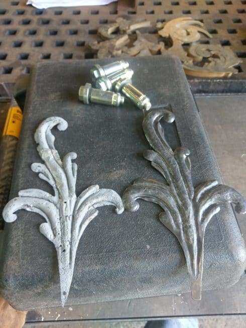 forged iron leaf replica