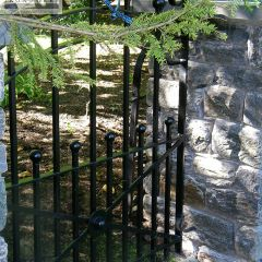 Wrought iron gate for walkway