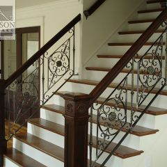 Interior wrought iron stair railing